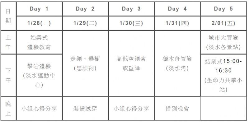 2019冒險家冬令營招生中~