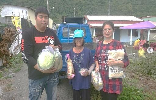 弱勢家庭物資發送、光復物資發送