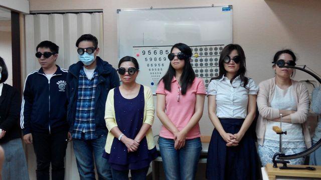參訪愛盲金會低視能中心