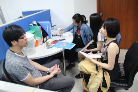 11月基金會花絮之一:大同大學媒體設計學系師生至雙連視障關懷基金會作研究採訪
