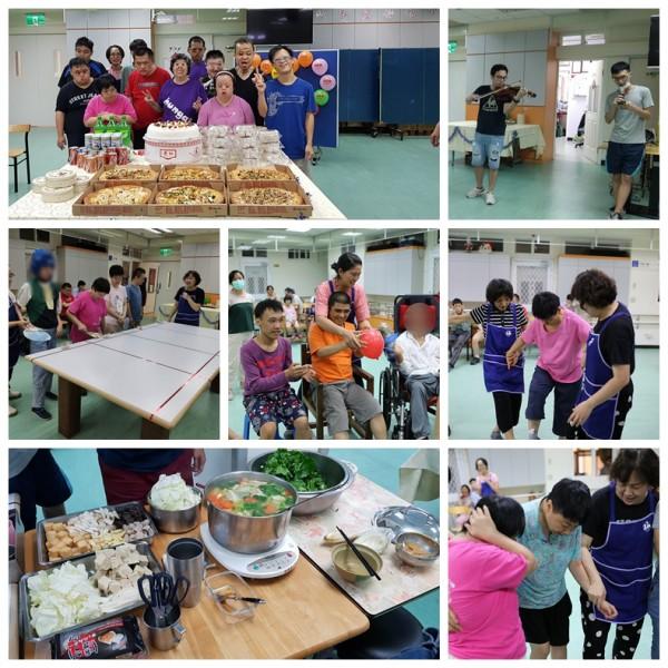 弘愛服務中心-慶祝自治會會長66歲生日及歡送替代役活動花絮