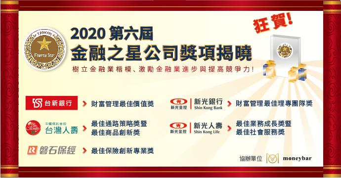 2020 金融之星公司獎項揭曉