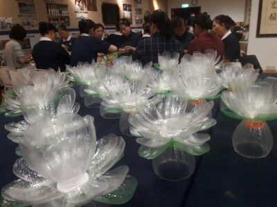 慈濟浴佛 ‧ 環保帶頭 逾兩千環保燈湯花 513照亮中正紀念堂