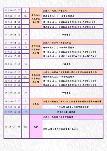 女選民高峰會報名簡章~歡迎下載報名~